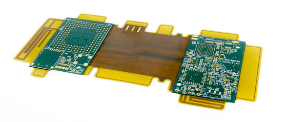 kualitas baik PCB Rigid Flex Assembly FR4 Polyimide Material Single Double Sided HASLSurface Finishing pemasok